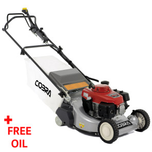 "Cobra RM48SPH 19"" Petrol Powered Rear Roller Lawnmower"