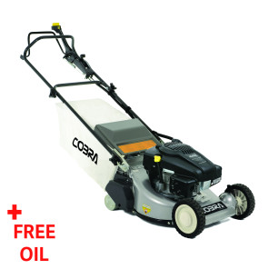 "Cobra RM48SPK 19"" Petrol Powered Rear Roller Lawnmower"